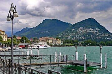 lac de lugano en suisse