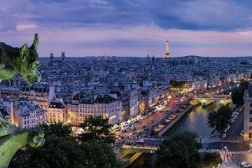 magnifique vue sur la ville de paris